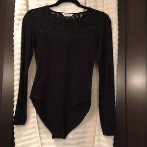 Miss Selfridge lace and nylon body suit